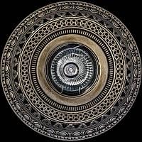 Светильник гипсовый [ Cast Light PL- 18 Antique Bronze ]