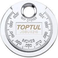 "Приспособление типа ""монета"" для проверки зазора между елетрод. cвечи Toptul"