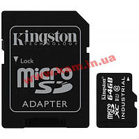 Карта памяти Kingston Class 10 UHS| U1 64GB microSDXC + SD adapter (SDCIT/64GB)
