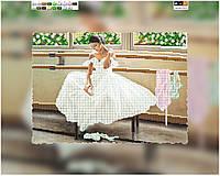 """Схема для вышивки бисером на подрамнике (холст) """"Балерина"""""""