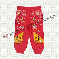 """Коралловые брюки детские""""Пчёлка"""" для девочек с 1-3 лет"""