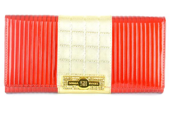 228ed7a93859 Женский кошелек Canevo 623 красный с золотом из натуральной кожи с  монетницей внутри ...