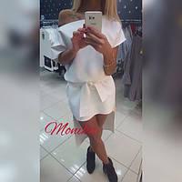 Женское платье спереди короче сзади длиннее