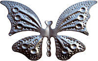 Кованный елемент бабочка 60х110x1 мм. Арт. AD-53.016