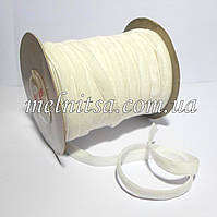 Лента бархатная 1 см, белая
