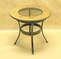 Стол дерево СД-11 (металл, стекло, дерево)
