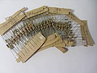 Набор 0,25 Вт резисторов 200 -4.3K Ом 25 номинал по 10шт 250шт