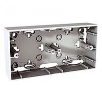 MGU8.004.18. Монтажная коробка для наружной проводки. 2-постовая. Unica basic & colors Белый