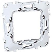 MGU7.002.P. Суппорт технополимер для механизмов Unica. 2-модульный Unica