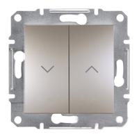 EPH1300169. Выключатель Для жалюзи Самозажимные контакты. Бронза. Asfora plus