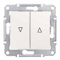 SDN1300123. Выключатель для жалюзи. Электрическая блокировка. Слоновая кость. Sedna