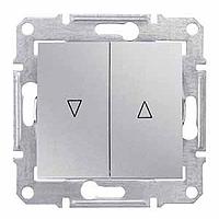 SDN1300160. Выключатель для жалюзи. Электрическая блокировка. Алюминий. Sedna