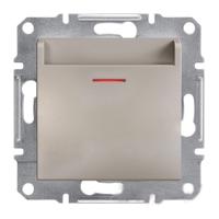 EPH6200169. Выключатель Карточный. Механический. Самозажимные контакты. Бронза. Asfora plus