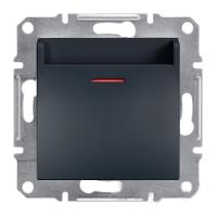 EPH6200171. Выключатель Карточный. Механический. Самозажимные контакты. Антрацит. Asfora plus