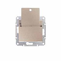 SDN1900168. Карточный выключатель. Титан. Sedna
