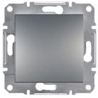 EPH0100162. Выключатель Одноклавишный Самозажимные контакты. Сталь. Asfora plus
