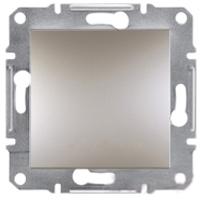 EPH0100169. Выключатель Одноклавишный Самозажимные контакты. Бронза. Asfora plus