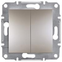 EPH0600169. Двухклавишный переключатель Самозажимные контакты. Бронза. Asfora plus