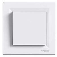EPH0100121. Выключатель Одноклавишный Самозажимные контакты Белый ASFORA