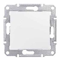 SDN0100321. Одноклавишный выключатель. IP44 Белый. Sedna