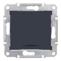 SDN0201170. 2-х полюсный Одноклавишный выключатель. С индикаторной лампой. Графит. Sedna