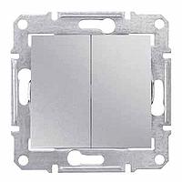 SDN0300160. Двухклавишный выключатель. Алюминий. Sedna