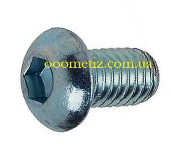 Гвинт М6х14 10.9 сталевий оцинкований ГОСТ ISO 7380 28963-91 з напівкруглою головкою, внутрішнім шестигранником