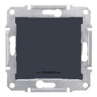 SDN0401170. Одноклавишный переключатель. С индикаторной лампой. Графит. Sedna