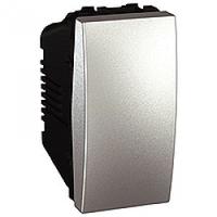 MGU3.163.30. Переключатель 1-клавишный. Проходной. (СХ.6) 16А, 1-модульный. Алюминий Unica