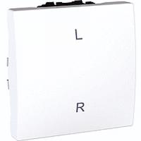 MGU3.263.18LR. Переключатель 1-клавишный. Левый-правый (СХ.6) 16А, 2-модульный. Белый Unica