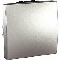 MGU3.263.30. Переключатель 1-клавишный. Проходной. (СХ.6) 16А, 2-модульный. Алюминий Unica