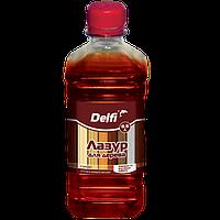 """Лазурь для дерева ТМ """"Delfi""""0,5 л(лучшая цена купить оптом и в розницу)"""