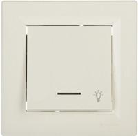 EPH1800123. Кнопка «Свет» С подсветкой Самозажимные контакты Кремовый  ASFORA