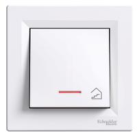 EPH1900321. Кнопка «Лестница» С подсветкой Самозажимные контакты Белый ASFORA