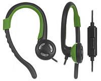 Наушники спортивные с микрофоном ERGO VS-300 Green