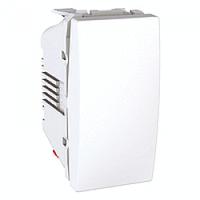 MGU3.106.18. Выключатель кнопочный, 1-модульный. Белый Unica