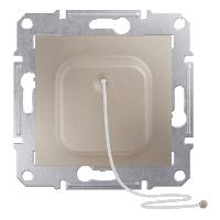 SDN1200168. Кнопка. Со шнуром. Титан. Sedna