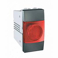 MGU3.775.12R. Индикатор красный. 1-модульный. Графит Unica