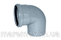 Колено 110/90 внутренняя канализация (30) - Evci Plastik
