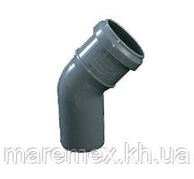 Колено 50/45 внутренняя канализация (200) - Evci Plastik