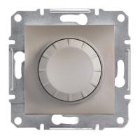 EPH6500169. Светорегулятор Поворотный. С подсветкой. 40-600VA. Бронза. Asfora plus