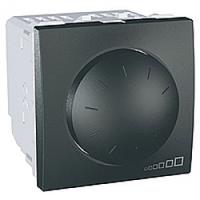 MGU3.510.12. Светорегулятор поворотно-нажимной. Для флюоресцентных ламп. 400ВА. 2 модуля. Графит  Unica