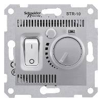 SDN6000160. Термостат комнатный 10А, макс. мощность 2300Вт. Алюминий. Sedna