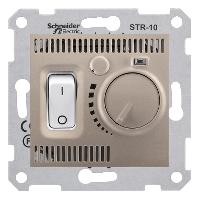 SDN6000168. Термостат комнатный 10А, макс. мощность 2300Вт. Титан. Sedna