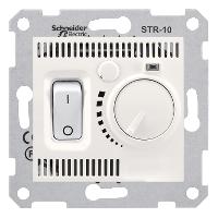 SDN6000123. Термостат комнатный 10А, макс. мощность 2300Вт. Слоновая кость. Sedna