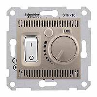 SDN6000368. Термостат для теплого пола 10А, макс. мощность 2300Вт. Титан. Sedna