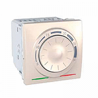 MGU3.501.25. Термостат отопление/кондиционирование. 8А(+5.30°С). 2-модульный. Слоновая кость Unica
