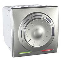 MGU3.501.30. Термостат отопление/кондиционирование. 8А(+5.30°С). 2-модульный. Алюминий Unica