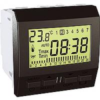 MGU3.505.12. Цифровой программируемый термостат. Отопление/кондиционирование. 8А (+5.35°С). Графит Unica