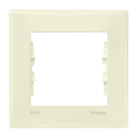 SDN5810123. Рамка 1-постовая выключатель-IP44, розетка-IP20. Слоновая кость. Sedna